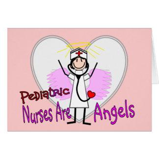 Las enfermeras pediátricas son ángeles tarjeta de felicitación