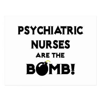 ¡Las enfermeras psiquiátricas son la bomba! Postal