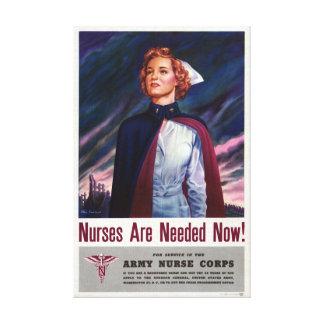 Las enfermeras son ahora necesario - poster del impresiones en lienzo estiradas