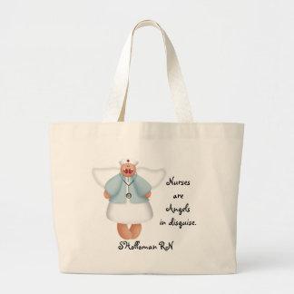 Las enfermeras son ángeles en disfraz bolsa de mano