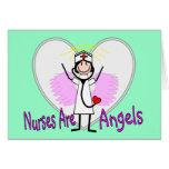 Las enfermeras son ángeles felicitaciones