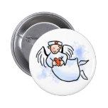 Las enfermeras son ángeles pins