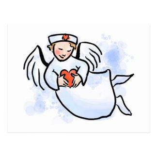 Las enfermeras son ángeles postales
