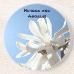 ¡Las enfermeras son ángeles! prácticos de costa de Posavasos Cerveza