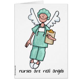 las enfermeras son ángeles reales felicitaciones