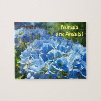 ¡Las enfermeras son ángeles! rompecabezas de la fl