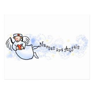 Las enfermeras son ángeles tarjetas postales