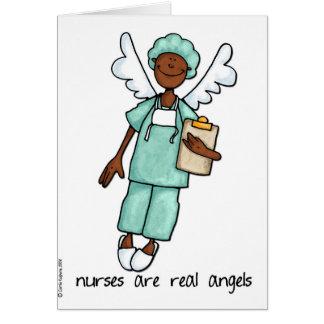 las enfermeras son angels3 reales tarjeta de felicitación