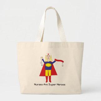 Las enfermeras son bolso (rubio) de los superhéroe bolsa tela grande