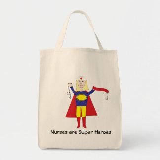 Las enfermeras son bolso (rubio) de los superhéroe bolsa tela para la compra
