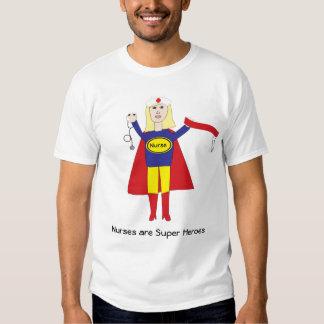 Las enfermeras son camisa (rubia) de los superhéro