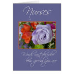 Las enfermeras son flores Especial-Coloridas/le ag Felicitacion