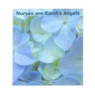 Las enfermeras son Hydrangeas de las libretas de l Blocs De Notas