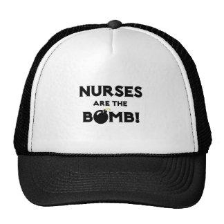 ¡Las enfermeras son la bomba! Gorros Bordados