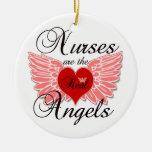Las enfermeras son los ángulos reales adorno redondo de cerámica