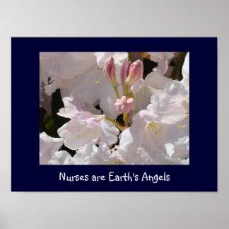 Las enfermeras son rododendros de la impresión del posters