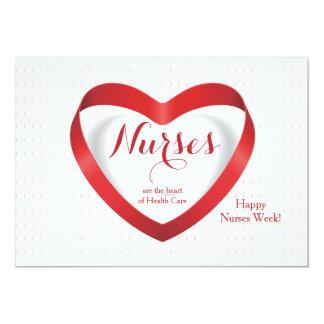 """Las enfermeras son… tarjeta feliz del día de las invitación 5"""" x 7"""""""
