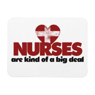 Las enfermeras son un poco una gran cosa iman rectangular