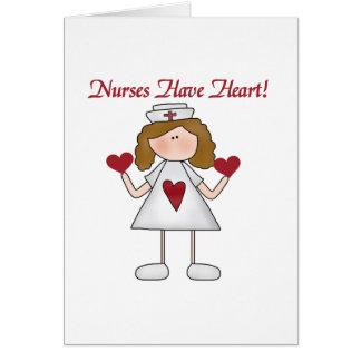 Las enfermeras tienen camisetas y regalos del cora tarjeta pequeña