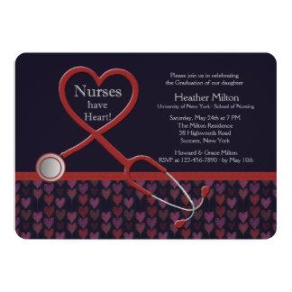 Las enfermeras tienen invitación de la graduación invitación 12,7 x 17,8 cm