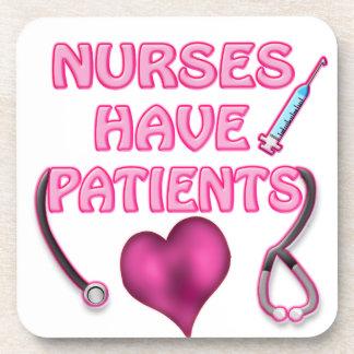 ¡Las enfermeras tienen pacientes! Posavasos De Bebidas