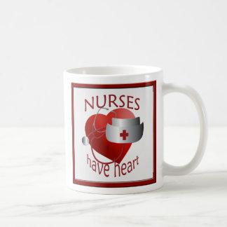 Las enfermeras tienen taza de la enfermera del