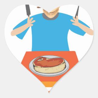 Las ensaladas están para los demócratas calcomania corazon personalizadas