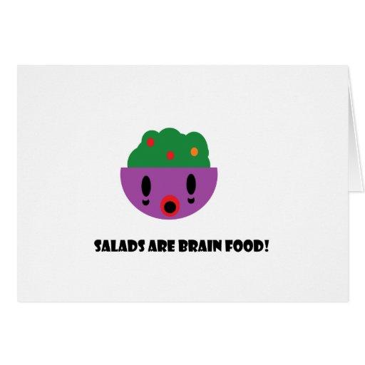 Las ensaladas son comida del cerebro tarjeta de felicitación