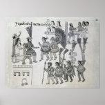 Las entregas aztecas pasadas de Cuauhtemoc del emp Póster