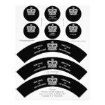 Las envolturas de la magdalena de la corona guarda membrete personalizado