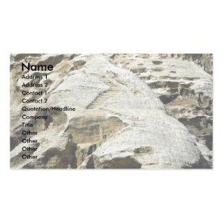 Las escaleras en las rocas acercan al monasterio tarjeta personal