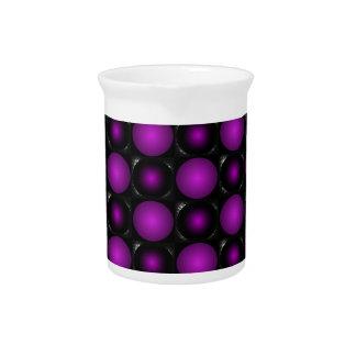 Las esferas negras y púrpuras 3D texturizaron dise Jarron
