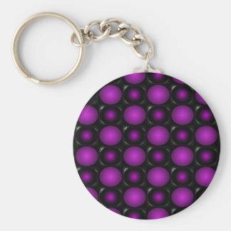 Las esferas negras y púrpuras 3D texturizaron dise Llaveros