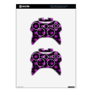 Las esferas negras y púrpuras 3D texturizaron Mando Xbox 360 Calcomanía