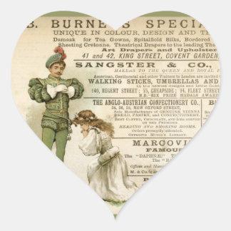 Las especialidades de Burnet Pegatina En Forma De Corazón