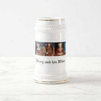 Las esposas del Enrique VIII Jarra De Cerveza