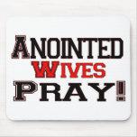 Las esposas untadas ruegan tapetes de ratón