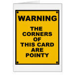 Las esquinas de esta tarjeta son parodia puntiagud