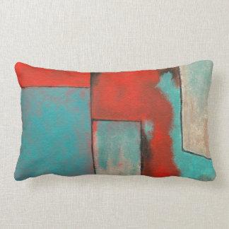 Las esquinas de mi arte rojo del rectángulo de la cojin