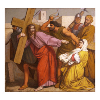 Las estaciones de la cruz 5 Simon llevan la cruz Fotografias