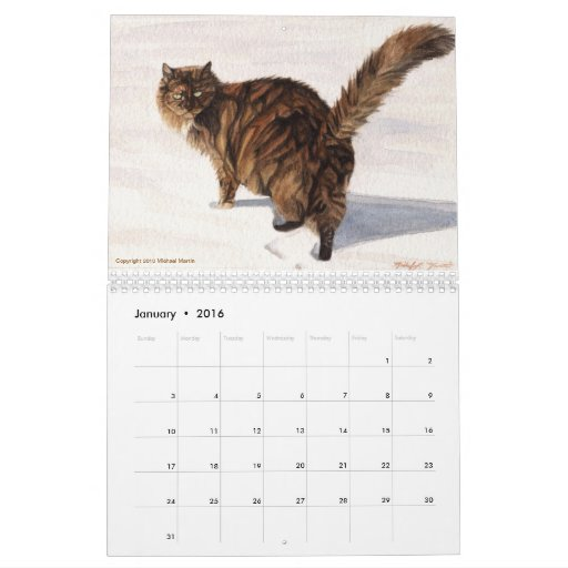Las estaciones hacen calendarios por Michael