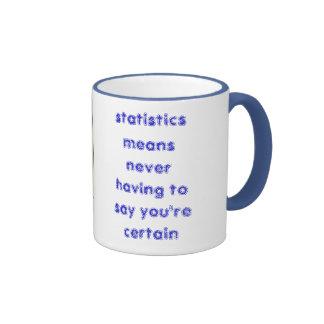 las estadísticas significan nunca tener que decir… tazas de café