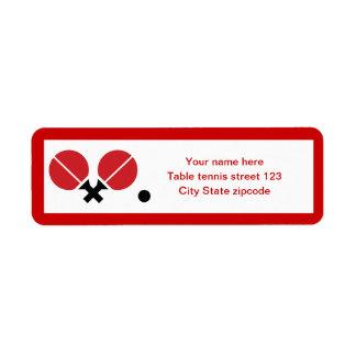 Las estafas y la bola del ping-pong de los tenis d etiquetas de remite