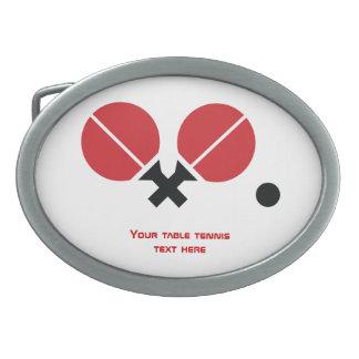 Las estafas y la bola del ping-pong de los tenis d hebilla de cinturón oval