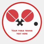 Las estafas y la bola del ping-pong de los tenis d pegatina redonda