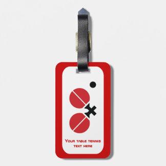 Las estafas y la bola del ping-pong de los tenis etiqueta para maleta