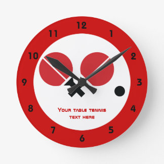 Las estafas y la bola del ping-pong de los tenis reloj redondo mediano