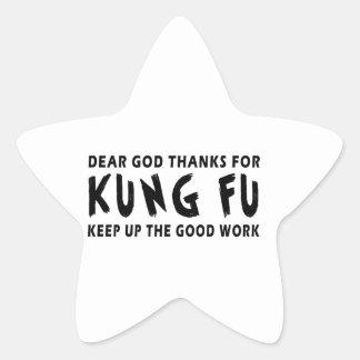 Las estimadas gracias de dios por el fu de Kung co Pegatinas Forma De Estrella Personalizadas
