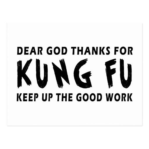 Las estimadas gracias de dios por el fu de Kung Tarjeta Postal