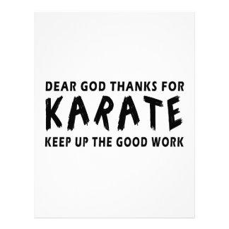 Las estimadas gracias de dios por karate continúan membrete personalizado